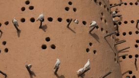Pigeon tower close up. Close up pigeon tower in Katara cultural village also named valley of cultures, Doha, Qatar, located between West Bay and the Pearl stock video footage