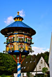Pigeon Tower, Franken, Germany. Old colorful handcrafted pigeon tower in Rosenbach, Bavaria, Germany Royalty Free Stock Photo