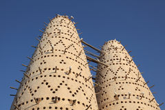 Pigeon towers in Doha, Qatar Stock Photos