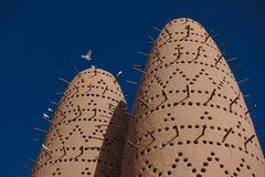 Pigeon Towers, in Katara cultural Village, Doha Qatar. stock photography