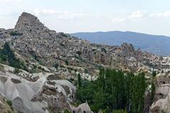 Pigeon valley in Cappadocia Royalty Free Stock Images