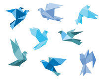 Pigeons et colombes de papier Photographie stock libre de droits