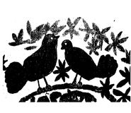 Pigeons illustration. Illustration with pigeons silhouette. pigeons on a white background Royalty Free Stock Images