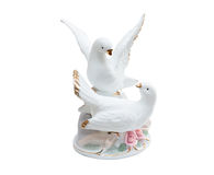 Pigeons from porcelain Stock Image