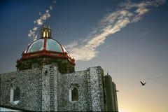 Pigeons San Miguel Mexique de dôme d'église Image libre de droits