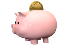 Pigg Bank Time Is Money Saving Royalty Free Stock Photo