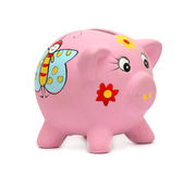 Piggibank. Pink piggibank on white background Royalty Free Stock Images