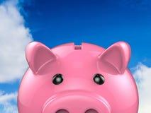 Piggibank cor-de-rosa Foto de Stock