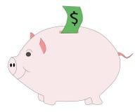 piggibank odosobnione różowy Zdjęcia Stock
