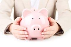 Piggibank rose Images libres de droits