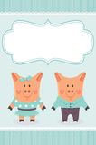Piggies couple Stock Photos