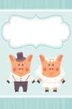 Piggies newlyweds Royalty Free Stock Image
