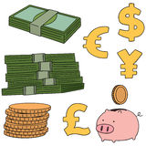 piggy αποταμίευση τοποθέτησης χρημάτων τραπεζών Στοκ Εικόνα
