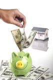 piggy αποταμίευση χρημάτων τρα&p Στοκ Εικόνα