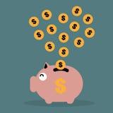piggy αποταμίευση χρημάτων τρα&p Στοκ Φωτογραφίες