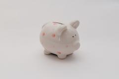 piggy λευκό τραπεζών Στοκ εικόνες με δικαίωμα ελεύθερης χρήσης