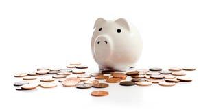 piggy λευκό τραπεζών Στοκ Φωτογραφίες
