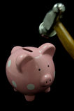 piggy ροζ σφυριών τραπεζών Στοκ εικόνα με δικαίωμα ελεύθερης χρήσης