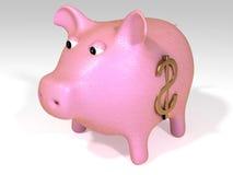 piggy ροζ τραπεζών Στοκ Φωτογραφία