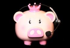 Piggy τράπεζα εξυπηρέτησης πελατών Στοκ Εικόνα