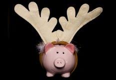 Piggy τράπεζα Χριστουγέννων Στοκ εικόνες με δικαίωμα ελεύθερης χρήσης