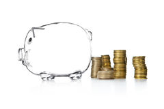 piggy ύφος χρημάτων κιβωτίων τρα&p Στοκ φωτογραφία με δικαίωμα ελεύθερης χρήσης
