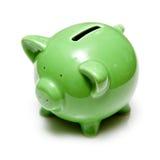 piggy банка зеленое Стоковая Фотография
