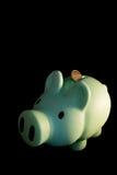 piggy банка зеленое Стоковые Фотографии RF