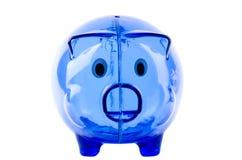 piggy банка пустое стеклянное Стоковые Изображения
