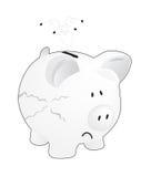 piggy банка пустое Стоковое фото RF