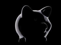 piggy банка черное Стоковые Фотографии RF