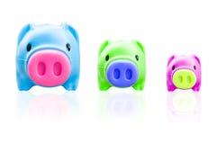 Piggy банк изолированный на белой предпосылке Стоковая Фотография