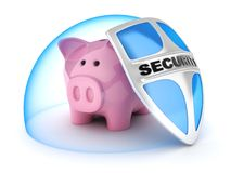 Piggy банк Символ сохраняет деньги Стоковое Фото