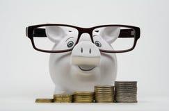 Piggy банк с монетками Стоковое фото RF