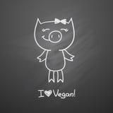 Piggy нарисованное рукой Стоковая Фотография