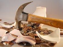 αποτυχία τραπεζών piggy Στοκ φωτογραφίες με δικαίωμα ελεύθερης χρήσης