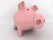 Piggy. Funny Pink Piggy on white background Stock Image