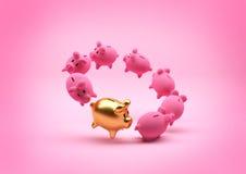 Έννοια αποταμίευσης - τράπεζα Piggy Στοκ φωτογραφία με δικαίωμα ελεύθερης χρήσης
