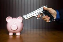 разбойничество банка piggy Стоковая Фотография