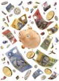 piggy Australien grupppengar Royaltyfria Bilder