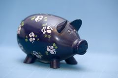 Piggy azul Fotos de Stock