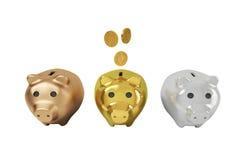 3 piggy back Royalty Free Stock Image