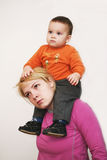 Piggy back ride Stock Photo