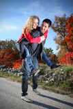 Piggy back ride Royalty Free Stock Images