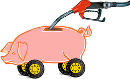 Piggy-banco a abastecer-se Imagens de Stock Royalty Free