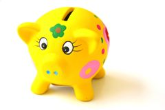 Piggy Bank. For children over white background Royalty Free Stock Image