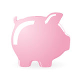 Piggy bank. Illustration of a Piggy bank isolated on white background Stock Photography