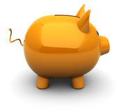 Piggy bank. 3d illustration of orange piggy bank over white background Stock Photography