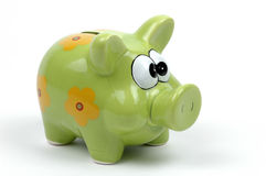 Piggy Bank. Brightly painted piggybank on a white background Royalty Free Stock Photo