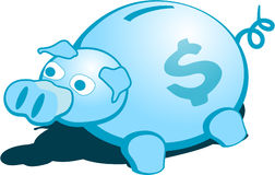 Piggy Bank. Illustration of a money pig Royalty Free Stock Photography